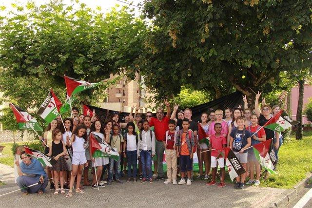 Niños saharauis del programa 'Vacaciones en paz' en Cantabria