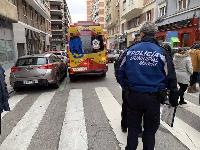 Herido de gravedad un hombre atropellado en Chamberí