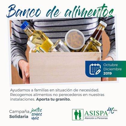 ASISPA invita a todo el mundo a colaborar en su campaña de Banco de Alimentos