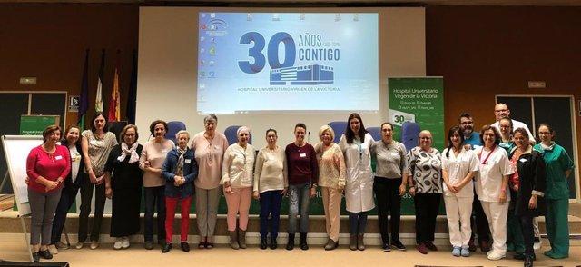 Mujeres operadas de cáncer de mama mejoran su autocuidado y autoestima en talleres en el Hospital Virgen de la Victoria de Málaga