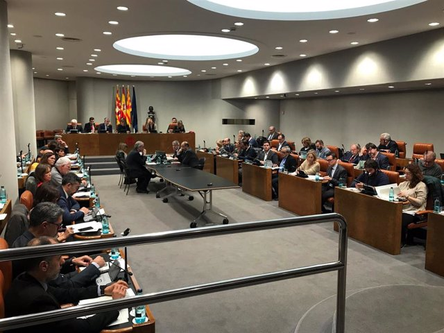 Pleno de la Diputación de Barcelona.