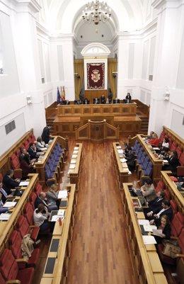 Momento del pleno de las Cortes regionales.