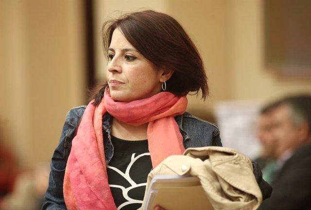 La portaveu del PSOE al Congrés dels Diputats, Adriana Lastra, durant la reunió de la Diputació Permanent del Congrés, Madrid (Espanya), 27 de novembre del 2019.