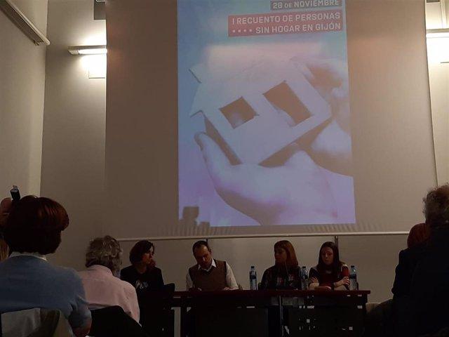 Presentación del I Recuento de Personas Sin Hogar en Gijón
