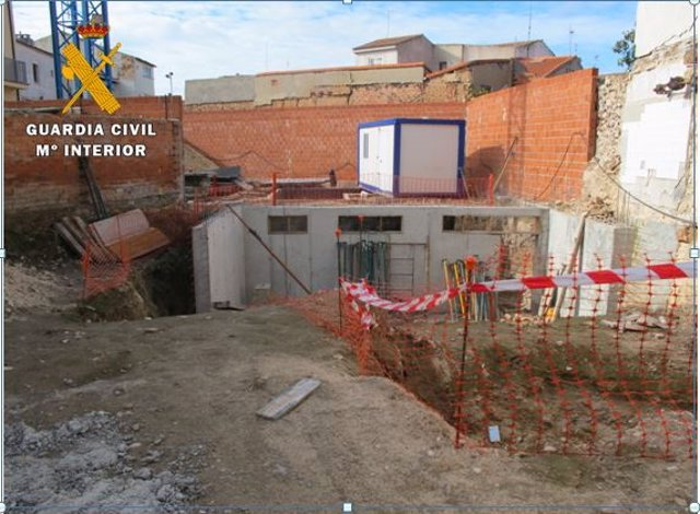 Obras de una vivienda realizadas en un yacimiento arqueológico de Peñafiel.