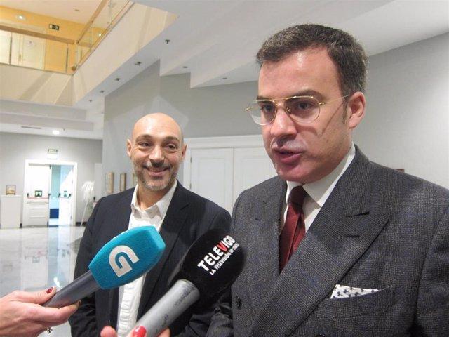 El director territorial del ICEX en Galicia, Sergio Prieto, y el coordinador de Internacionalización del Círculo de Empresarios de Galicia, Pedro Mouriño, este jueves en Vigo