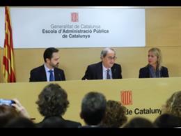 El president de la Generalitat, Quim Torra, a l'Escola d'Administració Pública de Catalunya