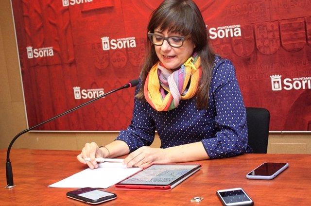 Gloria Gonzalo durante la rueda de prensa.