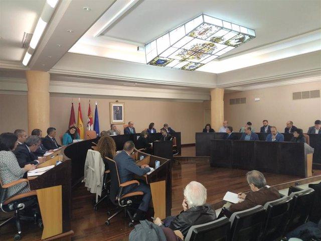 : Pleno Ordinario Celebrado El Día 28 En El Palacio Provicncial De La Diputación De Segovia, Presidido Por Miguel Ángel De Vicente (PP).