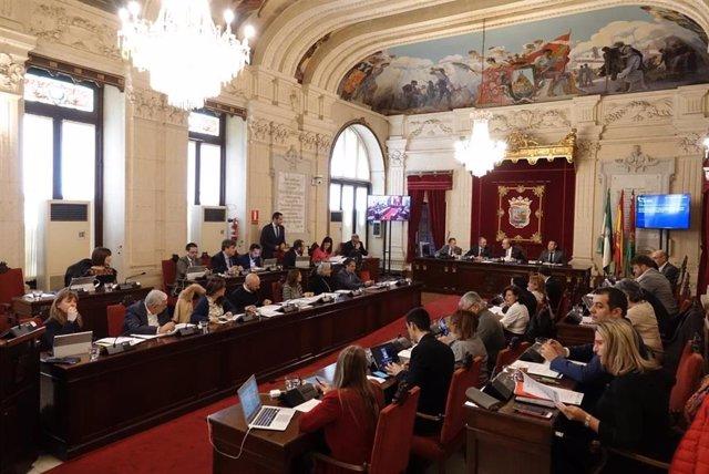 Pleno del Ayuntamiento de Málaga del mes de noviembre