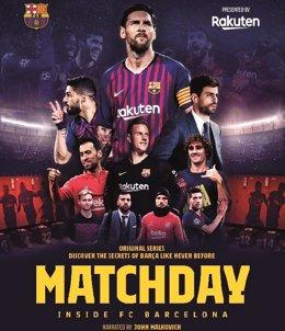 Poster promocional de la serie 'Matchday - Inside FC Barcelona' de Rakuten y Barça Studios