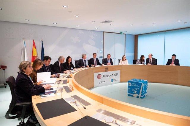 Reunión del Consello de la Xunta presidida por Alberto Núñez Feijóo