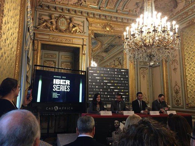 Presentación de la 1 edición de Iberseries, el festival internacional de serie en español en Casa América (Madrid)