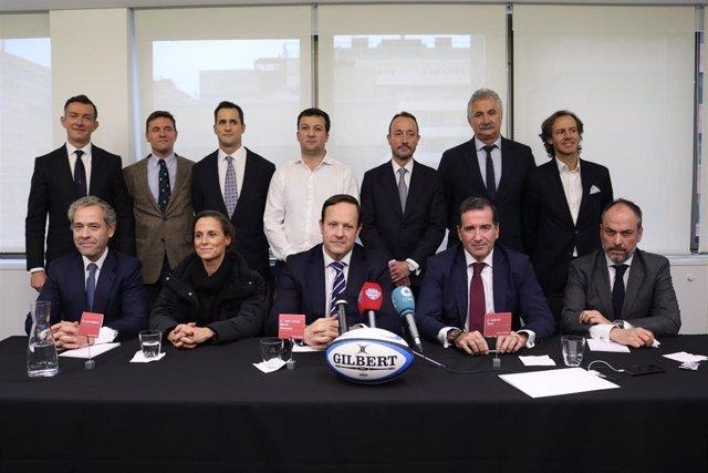 Juan Carlos Martín, Hansen, junto al resto de su candidatura de Valor de Rugby
