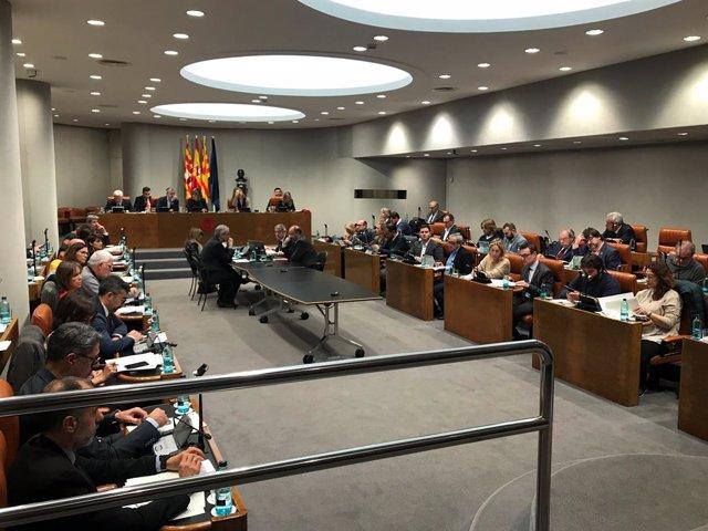Ple de la Diputació de Barcelona.
