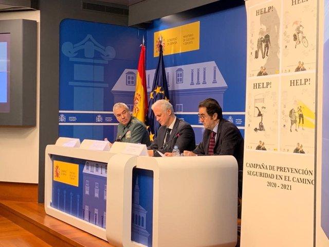 El alcalde de Logroño ha presentado en el Ministerio de Cultura la campaña de seguridad y prevención en el Camino de Santiago.
