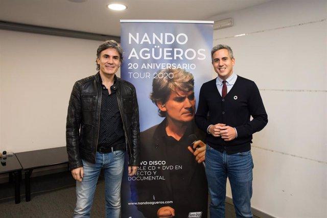 Nando Agüeros con Pablo Zuloaga