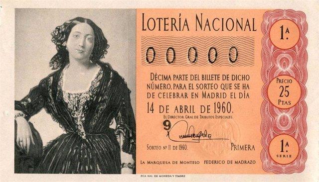 Imagen de capilla para un sorteo de Lotería Nacional, 'La Marquesa de Montelo', de Federico Madrazo