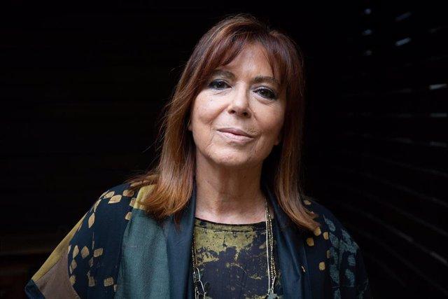 La cantante y guitarrista, Maria del Mar Bonet, durante la presentación de su concierto 'Barnasants, Cançó d'Autor'.
