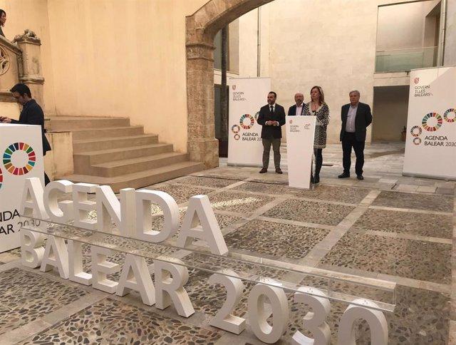 La presidenta del Govern, Francina Armengol, ha explicat aquest dijous després de la primera reunió de la Taula per a la 'Agenda Balear 2030'