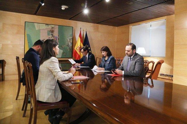 Reunió entre el PSOE i ERC al Congrés.
