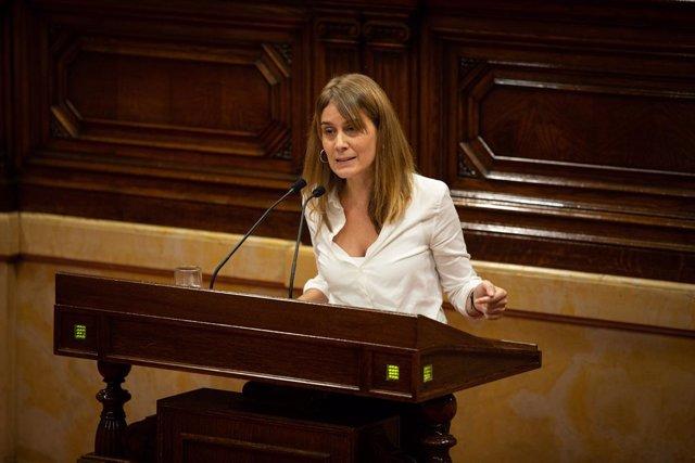 Jéssica Albiach intervé al Parlament de Catalunya, Barcelona (Catalunya / Espanya), 17 de novembre del 2019.