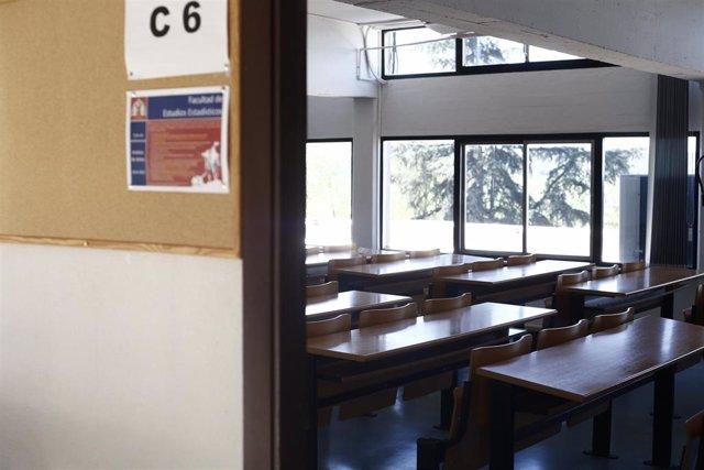 Aula en la Universidad Complutense de Madrid.