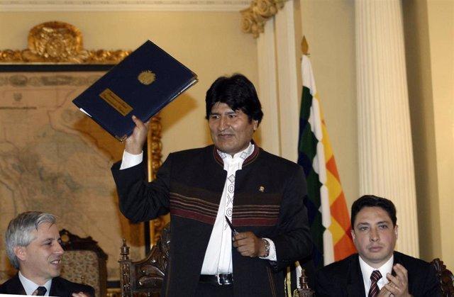 El depuesto presidente de Boliva, Evo Morales, en 2010.