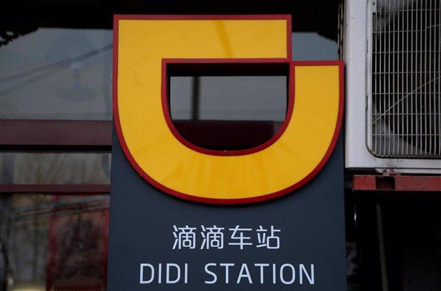 El logo de la compañía china Didi Chuxing, la Uber del gigante asiático.