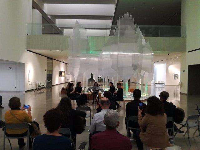 Actuación del ciclo de música de cámara en el Museo Íbero