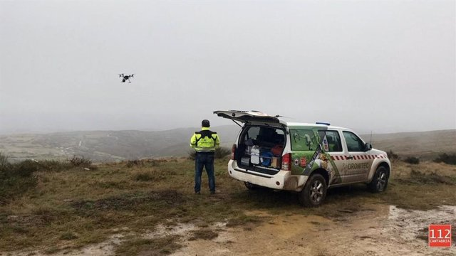 Búsqueda con drones del hombre desaparecido