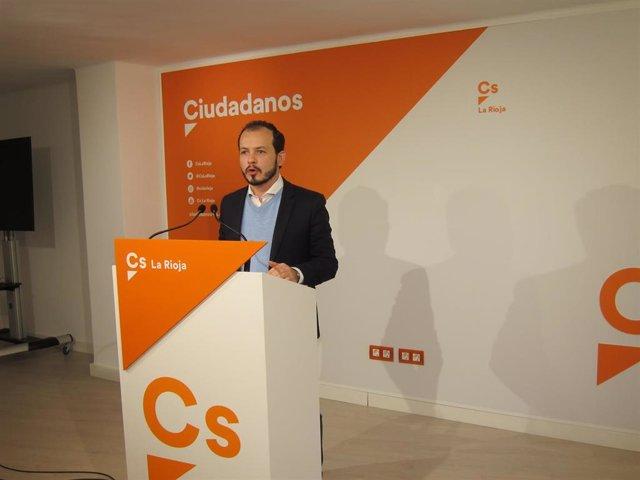 El portavoz de Cs en La Rioja, Pablo Baena