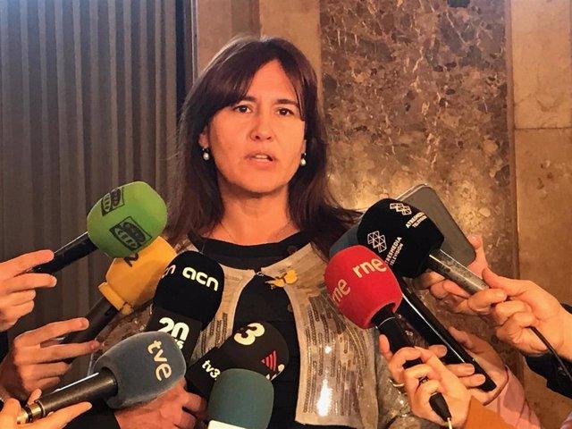 (archivo) La portavoz de JxCat en el Congreso, Laura Borràs
