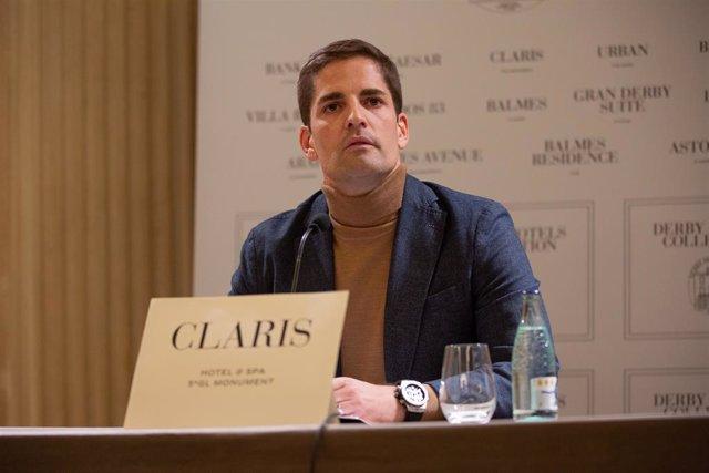 L'exseleccionador Robert Moreno explica la seva versió dels 'fets' al Claris Hotel de Barcelona, 28 de novembre del 2019.