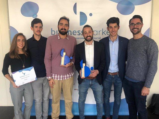 Representantes de las empresas Boniafit y Oscillum Tecnologies, ganadoras de los VIII Business Market 2019.
