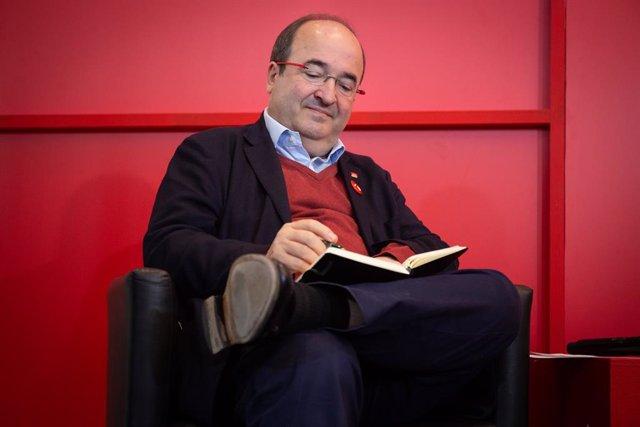 El secretari general del PSC, Miquel Iceta en la presentació del manifest 'Llaura Senat, Llaura Diàleg' a l'Hotel Catalonia Rambles, a Barcelona (Espanya), a 7 de novembre de 2019.