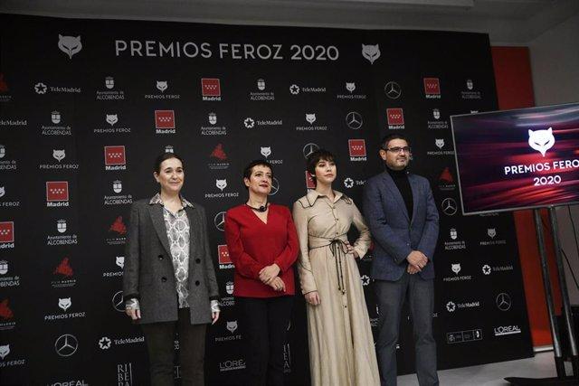 Presentación de los nominados a los Premios Feroz 2020 en la Consejería de Cultura y Turismo de la Comunidad de Madrid