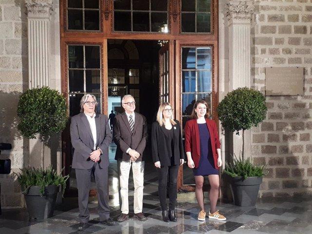 Xavier Marcé, Miquel Puig, Elsa Artadi y Janet Sanz