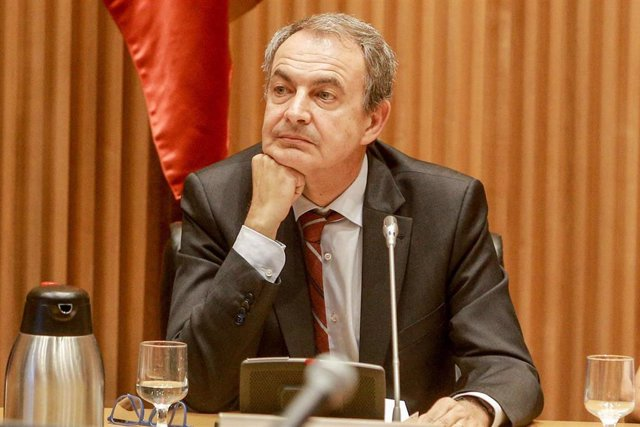El expresidente del Gobierno, José Luis Rodríguez Zapatero, durante la presentación de la Fundación Carme Chacón en la sala Ernest Lluch en el Congreso de los Diputados en Madrid, a 1 de octubre de 2019.