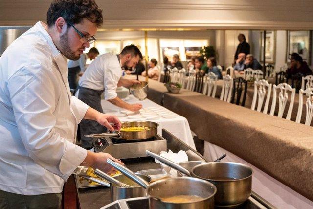 Imagen de una de las actividades desalladas en la tercera edición del BBVA Bilbao Food Capital