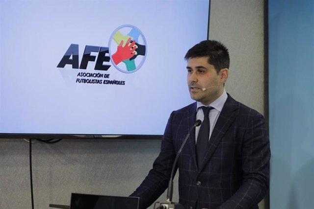 El presidente de la AFE David Aganzo