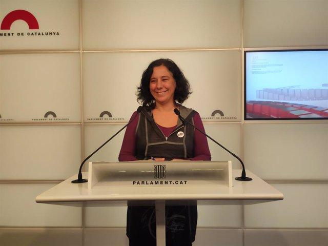 La portaveu dels comuns al Parlament, Susanna Segovia