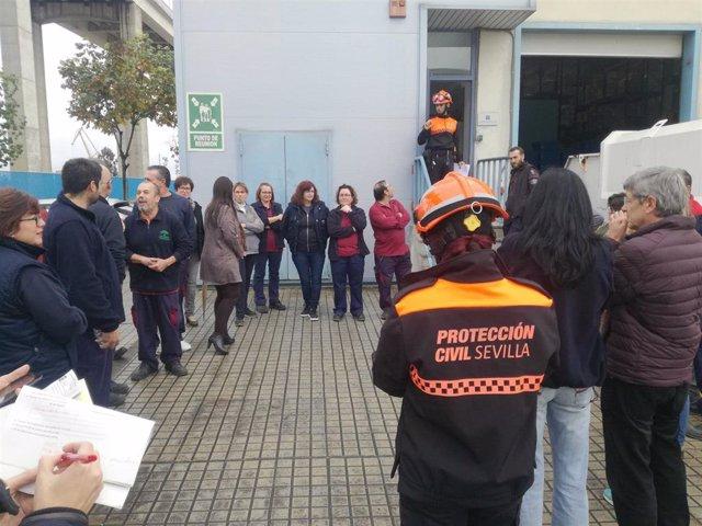 """El Macarena culmina con """"éxito"""" el simulacro de emerencia en la Zona de Almacenamiento Logístico provincial"""