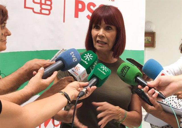La presidenta del PSOE-A, Micaela Navarro, en una imagen de archivo.