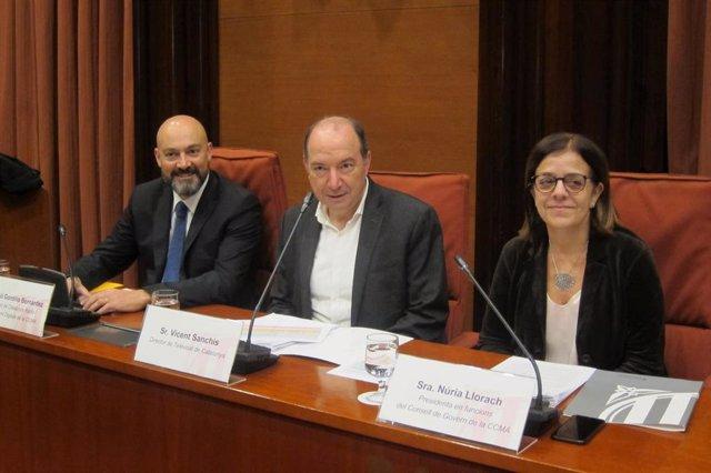Saül Gordillo, Vicent Sanchis y Núria Llorach