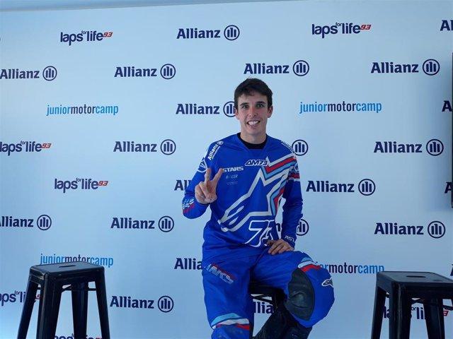 El piloto español Àlex Márquez durante su presencia en el Allianz Junior Motor Camp