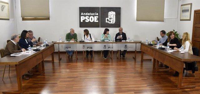Reunión del PSOE-A con la Federación de Organizaciones Andaluzas de Mayores (FOAM).