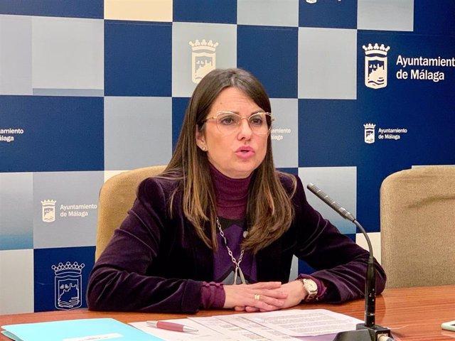La concejala del Grupo Municipal Popular de Málaga Susana Carillo en rueda de prensa