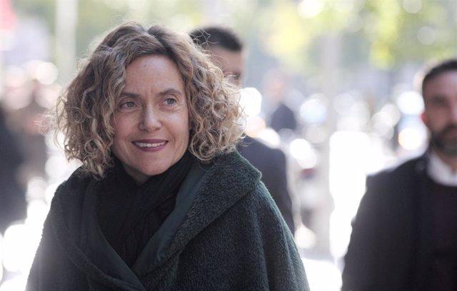 La presidenta del Congrés dels Diputats, Meritxell Batet, quan arribava a la reunió de la Comissió Permanent de l'Executiva Federal del PSOE,  al carrer Ferraz, Madrid (Espanya), 18 de novembre del 2019.