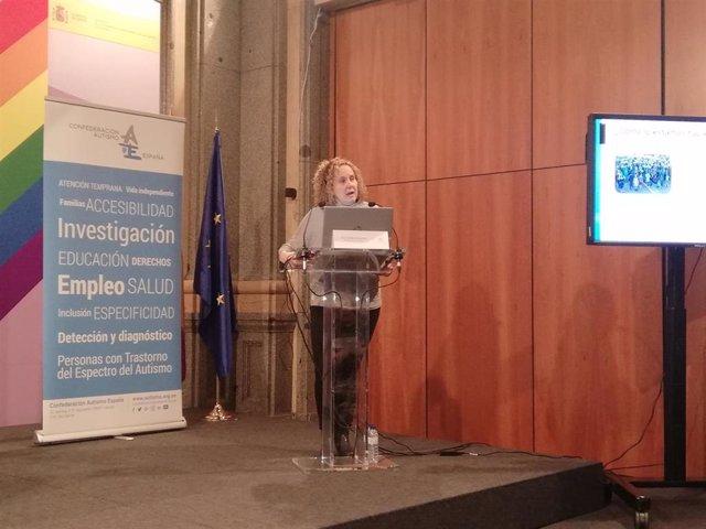 La directora técnica de Autismo España, Ruth Vidriales, durante la Jornada Técnica 'Situación y necesidades de las personas con trastorno del espectro del autismo en España: resultados y tendencias sociodemográficas en 2019'